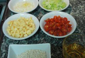 Culinária: risotto de alho poró