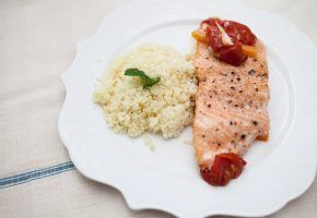 culinária: papillote de salmon