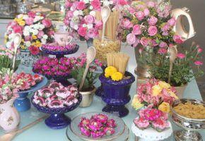 Chá de panela rosa e azul